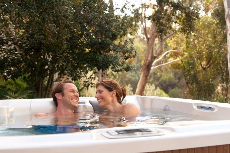 hot tub relaxing