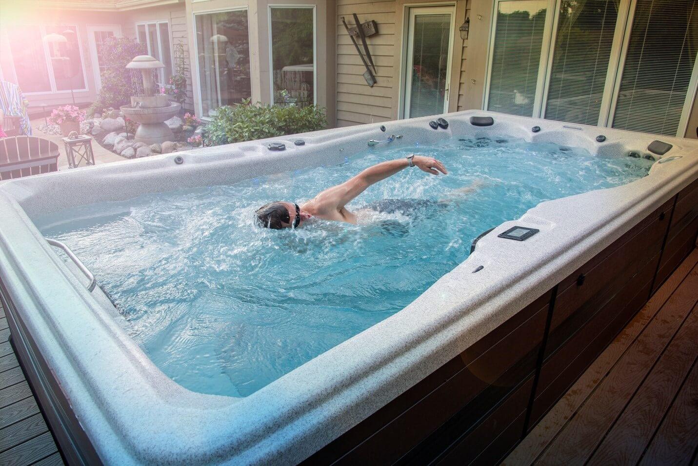 swim in a swim spa